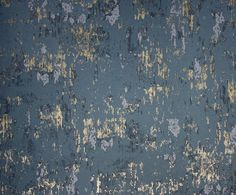 Rasetti Wallpaper A vivid and versatile wallpaper with a plaster effect and rubbed metallic highlights in graphite.