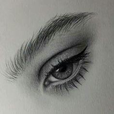 Art Drawings Sketches Simple, Pencil Art Drawings, Realistic Drawings, Drawing Painting Images, Drawing Portraits, Tears Art, Eye Drawing Tutorials, Eye Sketch, Makeup Books