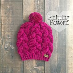Ravelry: Braided Cable Beanie pattern by Prem Knits Motifs Beanie, Knitting Patterns, Crochet Patterns, Knit Crochet, Crochet Hats, Cable Knit Hat, Cable Knitting, Beanie Pattern, Easy Knitting