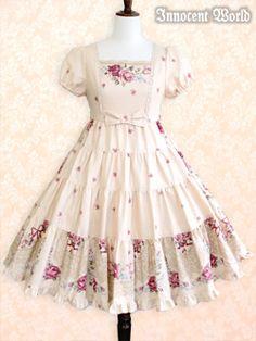Innocent World - OP - Lauretta Rose Onepiece /// ¥29,925 /// Bust:  84.5~113cm Waist:  72~106cm Length:  92.5cm