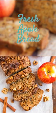 Apple Bread Apple Bread Well Plated wellplated Desserts Using Fruit BEST EVER easy and healthy apple bread A MUST MAKE in the nbsp hellip videos uses Apple Bread Recipe Healthy, Healthy Apple Desserts, Apple Recipes Easy, Apple Dessert Recipes, Easy Bread Recipes, Healthy Baking, Apple Recipes With Fresh Apples, Amish Apple Butter Recipe, Healthy Recipes