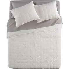 CB2 - white bed linens