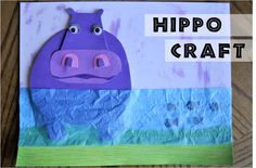 Pinterest inspires me pretty much on a daily basis…I repinned THIS pin and knew I had to find a way to recreate the Hippo Masterpiece. The pin comes from beautiful artwork by Melanie Mikecz and her shop on etsy is definitely worth checking out. A Hippo craft just isn't complete without reading the HICCUPotamus by Aaron …