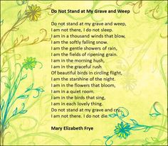 Mary Frye's poem recast and changed as a song by Wilbur Skeels in 1966