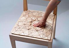 Holz Stuhl Details modernes Design