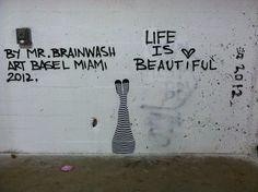 Mr Brainwash street art