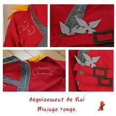 dguisement ninjago rouge kai little clary - Ninjago Rouge