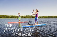 TOP 5 REASONS TO GET MOM A PADDLE BOARD! 1. Quiet time. Relaxation. 2. Nature. Fresh Air. 3. Low impact workout. Easy core and cardio. 4. It's popular! All the cool moms are doing it. 5. Free paddle and free shipping to your door. Perfect Gift For Mom, Gifts For Mom, Low Impact Workout, Paddle Boarding, Best Mom, Stand Up, Cardio, Core, Popular