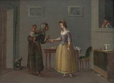 Neznámy maliar, Daniel Nikolaus Chodowiecki – Veštenie z dlane | Web umenia Painting, Painting Art, Paintings, Painted Canvas, Drawings