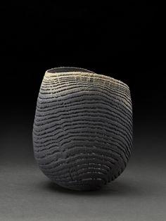 cavinmorrisgallery: Pascal OudetMedium black/blue bowl, 2014Oak, Turned, Sandblasted4.13 x 3.94 x 4.53 inches10.5 x 10 x 11.5 cmPaO 25