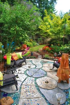 Eclectic and fun garden for an afternoon party!
