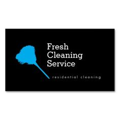 Cleaning Service Logo Customized with Your Business Name