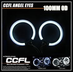 16.20$  Watch here - http://alivpb.shopchina.info/go.php?t=32751079542 - 100MM OD/84MM ID 2PCs CCFL Auto Halo Ring Headlight 100MM Car Angel EYes Kit Motor Car Eyes White Red Yellow Green Blue Purple  #magazineonlinewebsite