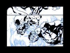Digital Inks over Joe Madureira's The Ultimates 3 page PART 2
