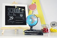 What better #gift than a Chalkboard Countdown To The Last Day Of School for #teacherappreciation week ;) | @kimbyers