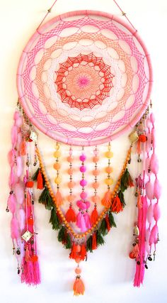 Oversized Colourful Dreamcatcher by Golden Dreamers on Etsy