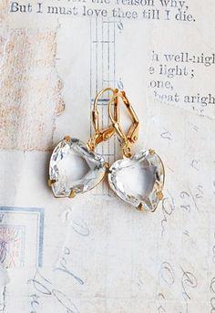 Crystal HEART Earrings Rhinestone LOVE Vintage by redtruckdesigns Bröllop  Örhängen 8d6aebb76844f