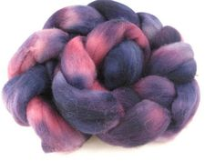 Hand Dyed Roving Purple and Pink 35 Ounces by flickertailfibers, $15.00