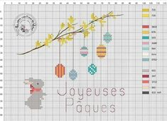 Cross Stitch Pattern Maker, Counted Cross Stitch Patterns, Cross Stitch Embroidery, Hand Embroidery Patterns, Ribbon Embroidery, Easter Cross, Le Point, Couture, Hand Stitching
