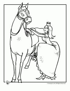 Princess and her horse 5