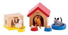 Amazon.com : Hape - Happy Family Doll House - Furniture - Family Pets : Melissa And Doug Dollhouse Dolls : Toys & Games