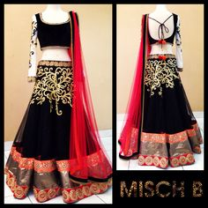 Dark Romance Lehenga by MischB COuture