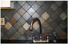 Slate backsplash
