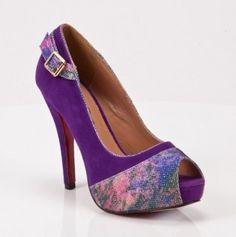 Purple Purple Purple Peep Toe Heels #purple #peep_toe #heels #love
