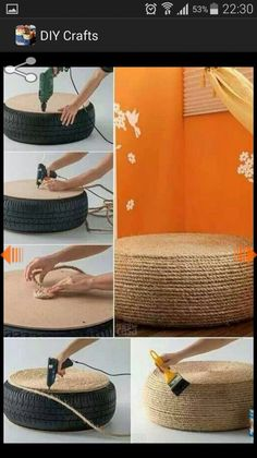 There is always something to do with old tires- now I know what I want to do. Anyone got an old tire?