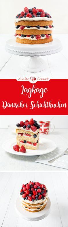 Rezept: Lagkage, eine typisch dänische Torte mit Beeren