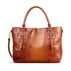 Kattee Vintage Genuine Soft Leather Shoulder Handbag Brown *** You can get additional details at the image link. (This is an affiliate link) hobo bag diy Leather Satchel Handbags, Hobo Handbags, Shoulder Handbags, Fashion Handbags, Purses And Handbags, Leather Purses, Shoulder Bags, Hobo Bags, Ladies Handbags