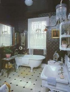 Victorian Bathroom I Love The Claw Foot Tub And Sink