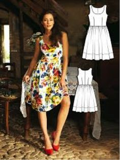 Cuban Havana Dress Burda Style Nights Draft Your Own Full Skirt To Go With A Pretty