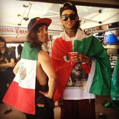 The Fuentes brothers showing some Sexican pride