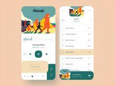Music Player music player music app web design mobile ui mobile app app design a. Ui Design Mobile, App Ui Design, Interface Design, User Interface, Flat Design, Design Design, Modern Design, Graphic Design, Photoshop
