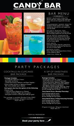 Dylan's Candy Bar drinks!