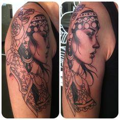 Gypsy Tattoo Electric Heart Tattoo LR