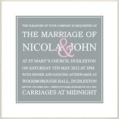 grey pink wedding invite, £1.60, #weddinginvitation