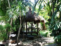 Perfect spot to have lunch in the garden. Java, Idonesia