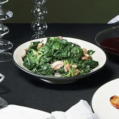 Spinach and Mushrooms with Truffle Oil Recipe  | Epicurious.com