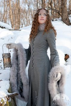 SALE Wool Grey Fantasy Coat Heritrix Of The Winter by armstreet