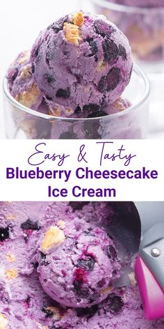 A Blueberry Cheesecake Ice Cream for a delightful treat in every spoon. Fresh blueberry in a mix of creamy cheesecake and graham crackers will cool off your day. Easy to try, you won't make this decadent ice cream once. Cheesecake Ice Cream, Homemade Cheesecake, Blueberry Cheesecake, Homemade Desserts, Homemade Cakes, Delicious Desserts, Dessert Recipes, Awesome Desserts, Cheesecake Recipes