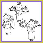 Three Angels Coloring Sheet and Christian Song for Kids!