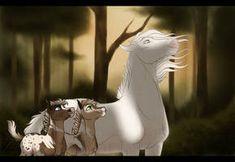 Spirit The Horse, Spirit And Rain, Pretty Horses, Beautiful Horses, Animals Beautiful, Horse Drawings, Art Drawings, Horse Animation, Horse Cartoon