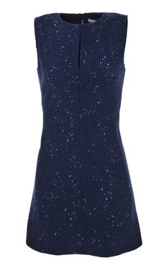 Gorgeous DVF blue fitted a-line dress at Stanwells.com!!
