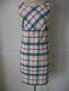 Vintage Plaid Sleeveless Multi-color Fitted by NoveltyandThings