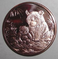 2013 US 1 ounce .999 Copper, Panda Bear with baby, animal wildlife, Token coin. | Coins & Paper Money, Coins: World, Other Coins of the World | eBay!