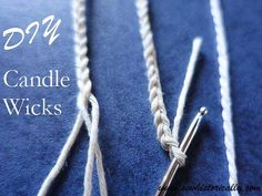 How To Make DIY Candle Wicks With Cotton String - Sew Historically - - Did you know that you can make DIY candle wicks with things you already have at home? All you need is cotton string, vegetable oil and salt. Diy Candle Wick, Candle Craft, Candle Wicks, Candle Wax, Candle Holders, Diy Candle Ideas, Beeswax Candles, Borax, Crafts