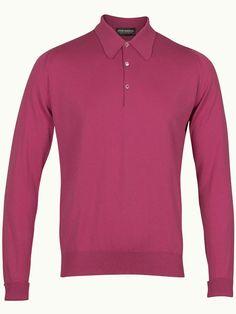 John Smedley Finchley Long Sleeve Polo Shirt - Rosebud - Available to buy at http://www.afarleycountryattire.co.uk/product-tag/john-smedley-finchley-long-sleeve-polo-shirt/ #johnsmedley #mensfashion #poloshirt #afarleycountryattire