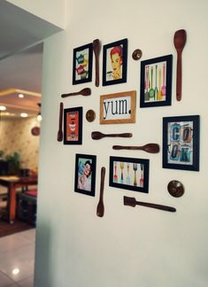 Home style Tour with Rajni in Hyderabad: kitchen frame art and wooden spoon wall decor Quirky Home Decor, Indian Home Decor, Moroccan Decor, Indian Wall Decor, Moroccan Bedroom, Moroccan Lanterns, Moroccan Interiors, Moroccan Tiles, Indian Room